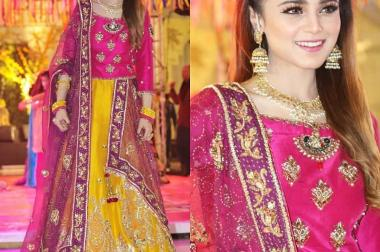 Pakistani Singer And Scriptwriter Aima Baig Rocked At Her Sister's Mehendi