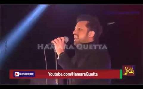 Atif Aslam Live concert At Bugti Stadium Quetta 23rd march 2017
