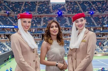 Emirates Airlines invited Mehwish Hayat for the finals of the US Open