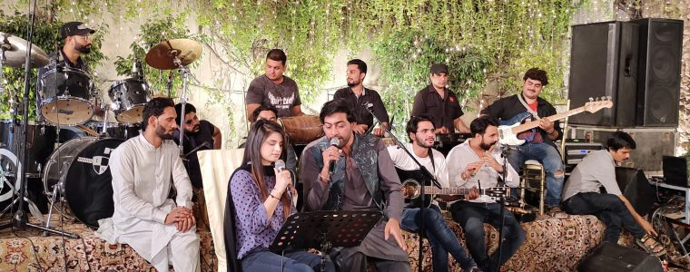 Ali Abbas performed Live at Ghazal Night in his own City Faisalabad